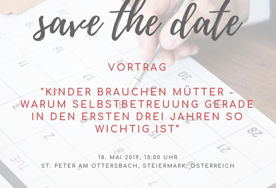 """Mein Vortrag """"Kinder brauchen Mütter!"""" – Servus in Österreich"""
